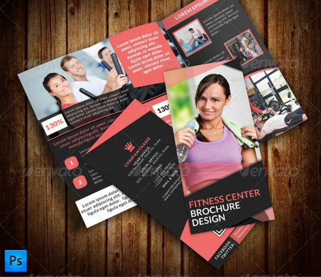 Fitness GYM Brochure Template 13 by Layout Design Ltd on - fitness brochure template