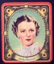 Betty Furness 1936 Garbaty Passion Film Star Embossed Cigarette Card #45