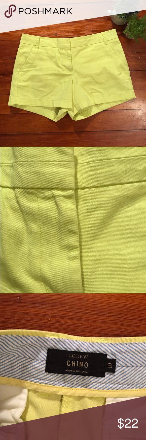 J. Crew shorts J. Crew shorts. Lime green shorts chino fit. Make me an offer ☺️!!! J. Crew Shorts