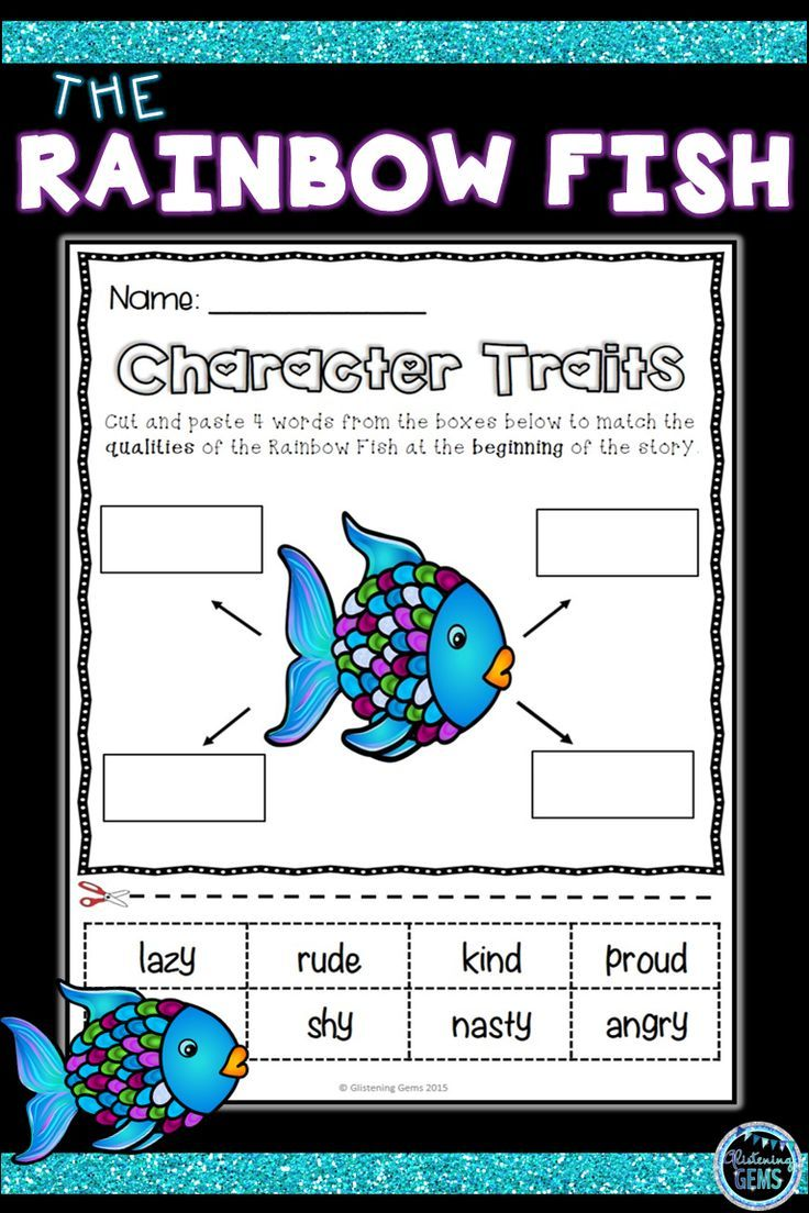 The Rainbow Fish Character Traits First Day Of School Activities Character Traits Activities Rainbow Fish First Day Of School Activities [ 1104 x 736 Pixel ]
