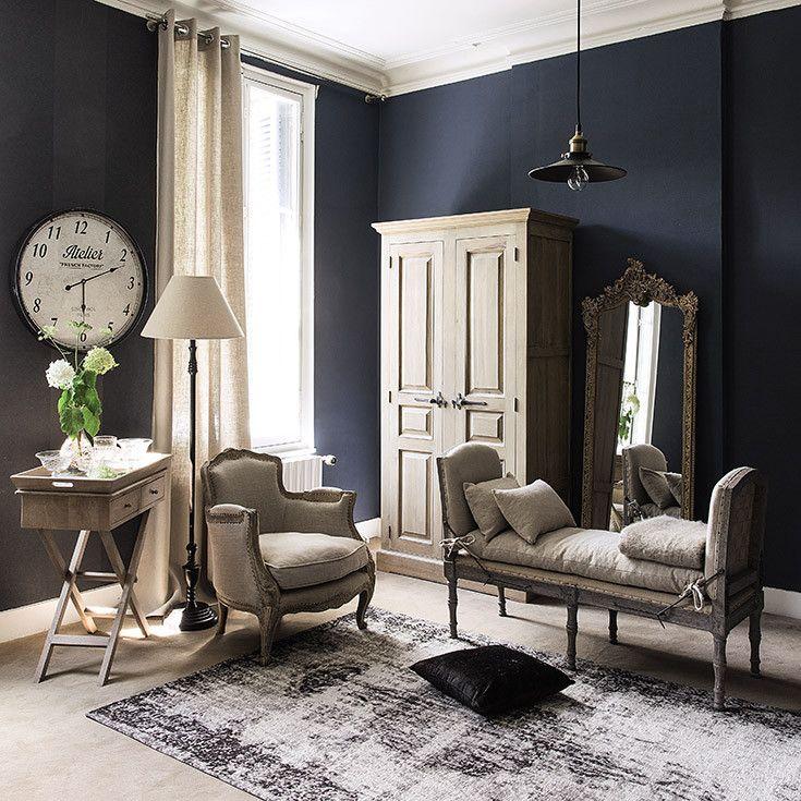 living - grey - greige - cosy / salon - coin cosy - gris - beige - classique - Maisons du monde