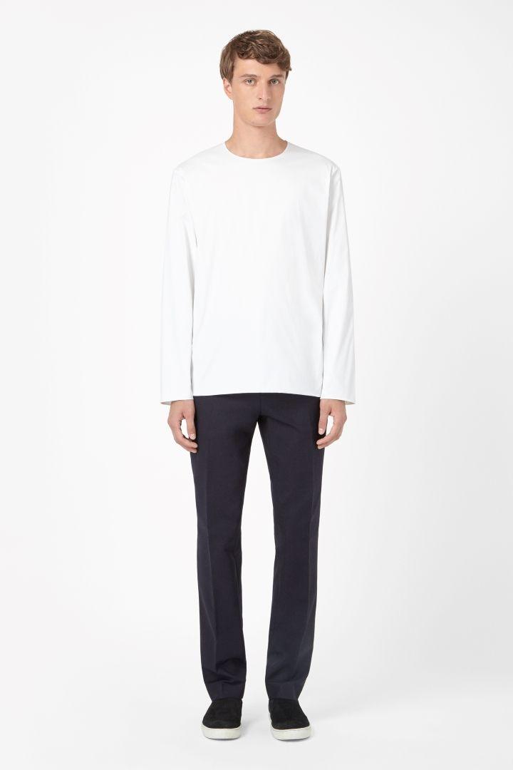 COS | Round-neck cotton shirt