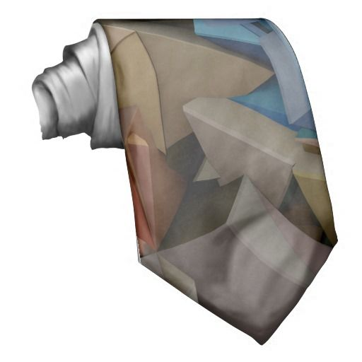 Colorful 3D abstract shapes Tie