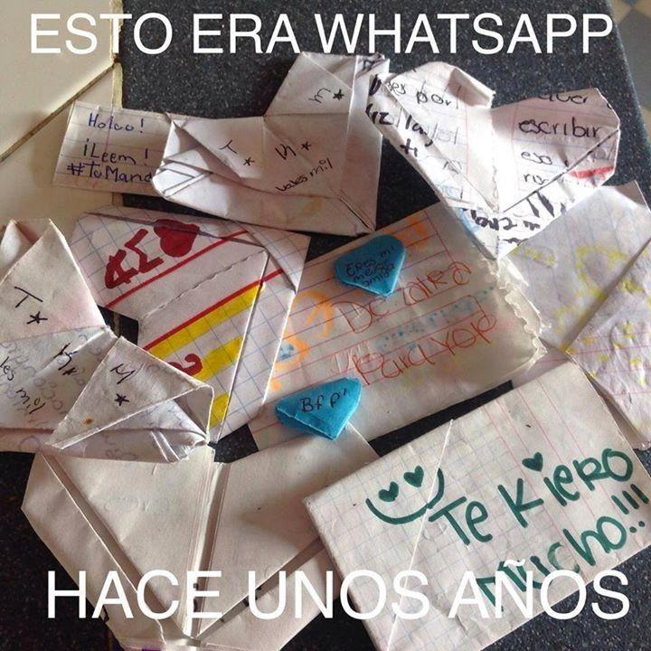 El antiguo Whatsapp.                                                                                                                                                                                 Más
