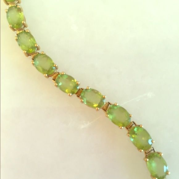 Peridot bracelet--stunning!!! This is really a gorgeous bracelet! Great quality peridot and 14k gold. Peridot is the birthstone for the month of August, but whether you have an August birthday or not this is a stunning piece of jewelry! Jewelry Bracelets