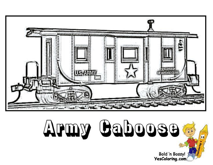 Train Coloring Page For Kids Of Army Train Caboose Coloring Pages For Kids Train Coloring Pages Coloring Pages