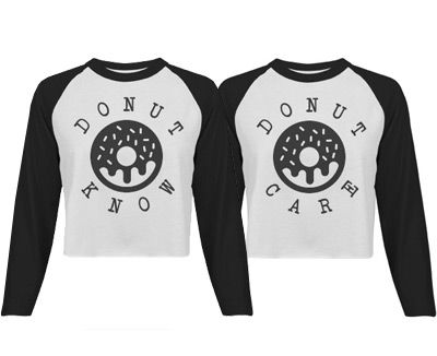 Donut Know, Donut Care Matching Best Friends Shirts - Who really cares what people think? You don't know and you don't care as long you and your bestie have matching donut shirts.  #bestfriends