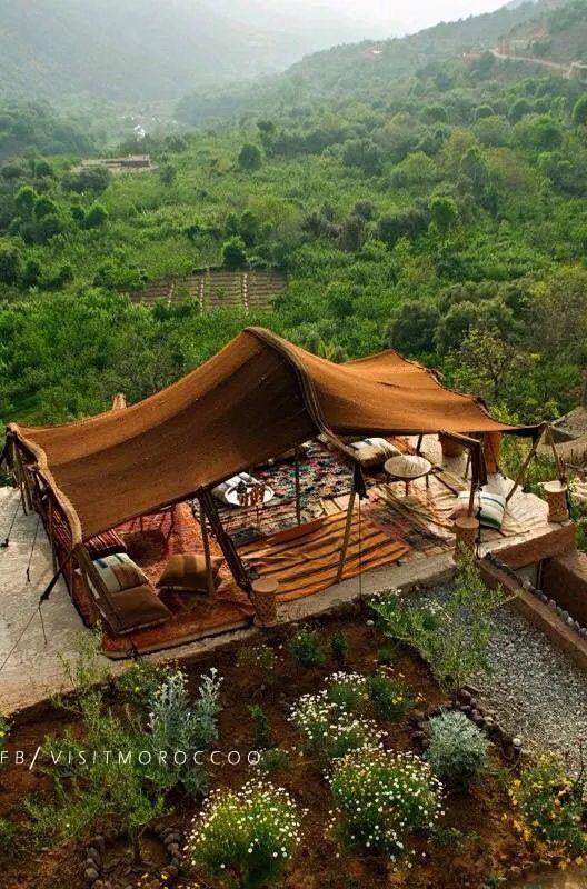 Dar Tassa, Morocco. Traditional lodging in the High Atlas mountain range.