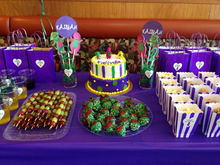 Barney Birthday Party Theme Barney Party Ideas Barney