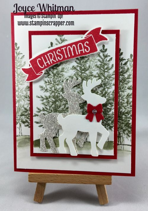 stampin up, Stampin' Up! Lovely as a Tree item #127793, Stampin' Up! Stampin' Up! Time of Year time #141790, Stampin' Up! Santa's Sleigh Thinlits item #140278, designed by Stampin Scrapper. Please see more card and gift ideas at stampinscrapper.com