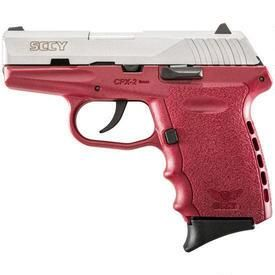 """SCCY Industries CPX-2 Semi Auto Handgun 9mm Luger 3.1"""" Barrel 10 Rounds Red Polymer Frame with Satin Stainless Finish CPX-2 TTCR"""