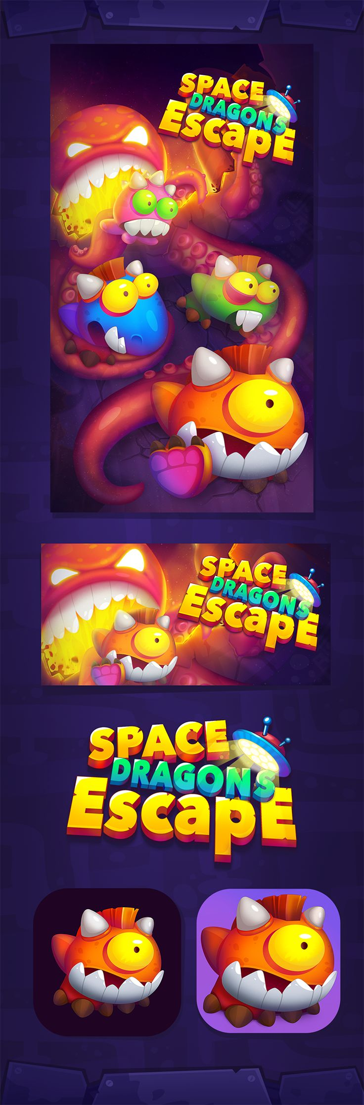 Space Dragons Escape on Behance