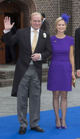 Princess Carolina de Bourbon de Parme and her oldest brother Prince Carlos attend the wedding of their brother Prince Jaime de Bourbon Parme and Viktoria Cservenyak on 05.10.13 in Apeldoorn, Netherlands