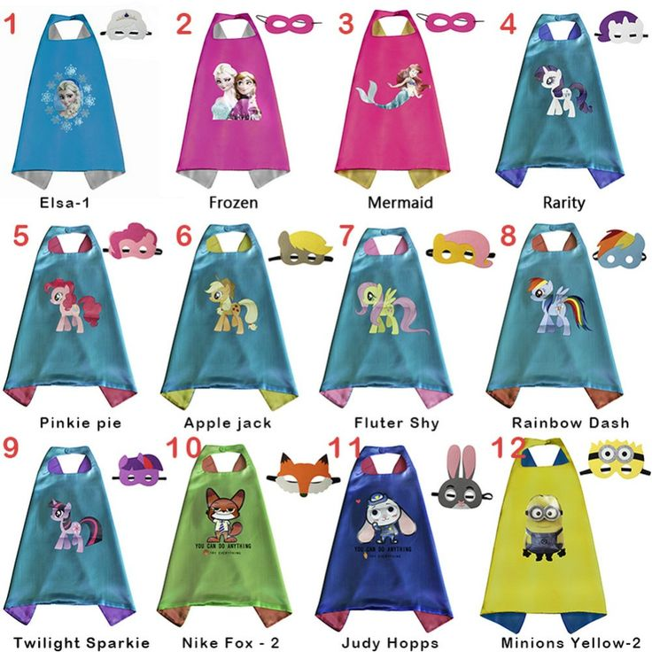 2016 Latest kids Superhero Capes Party Anime film games Super hero Batman Spiderman Supergirl kids capes with mask Supplies