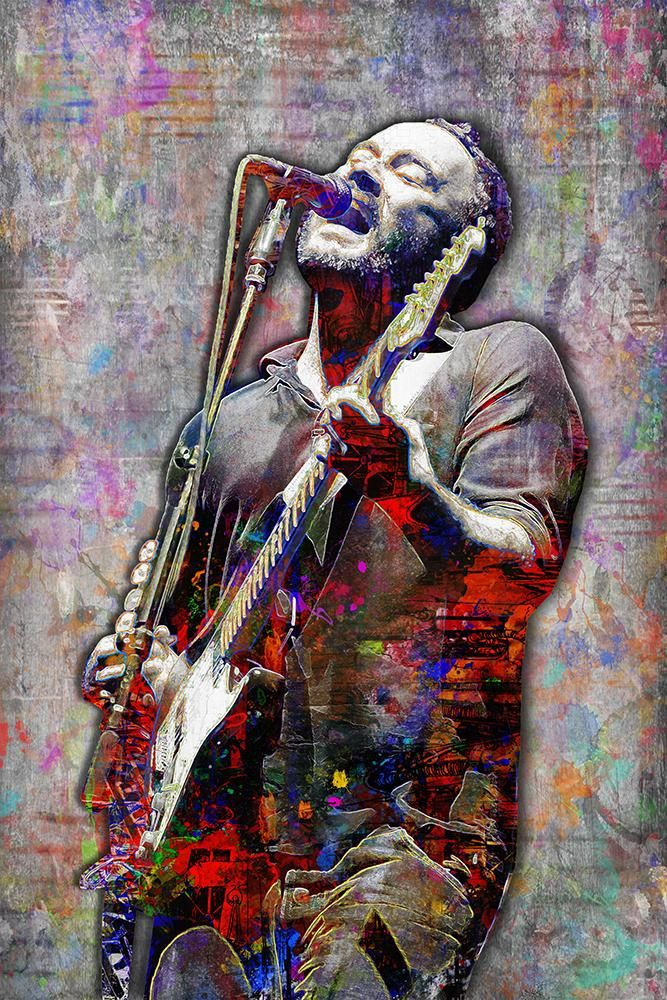 Dave Matthews Poster, Dave Matthews Band Gift 2, Dave Matthews Colorfu                      – McQDesign