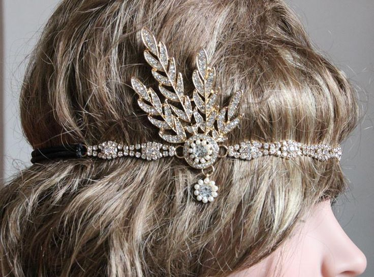 Great Gatsby Headpiece. Vintage Crown Pearls for wedding.