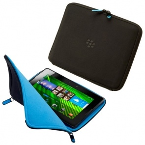 Husa BlackBerry ACC-39318-205 Zip Sleeve Black/Blue pentru BB Playbook