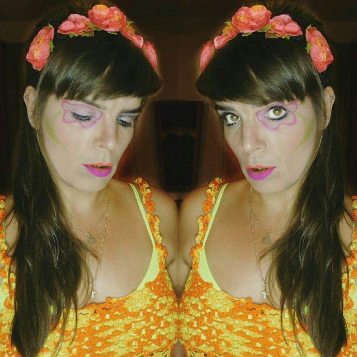 60's Halloween makeup. Twiggy inspired.