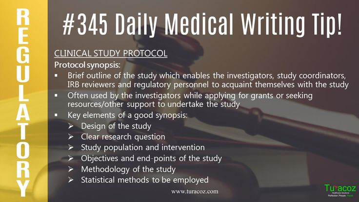 #TuracozHealthcareSolutions tells you about the protocol synopsis, a document prepared under #ClinicalResearchAndRegulatory writing.