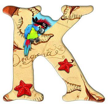 Αυτοκόλλητο γράμμα K «Sharky»