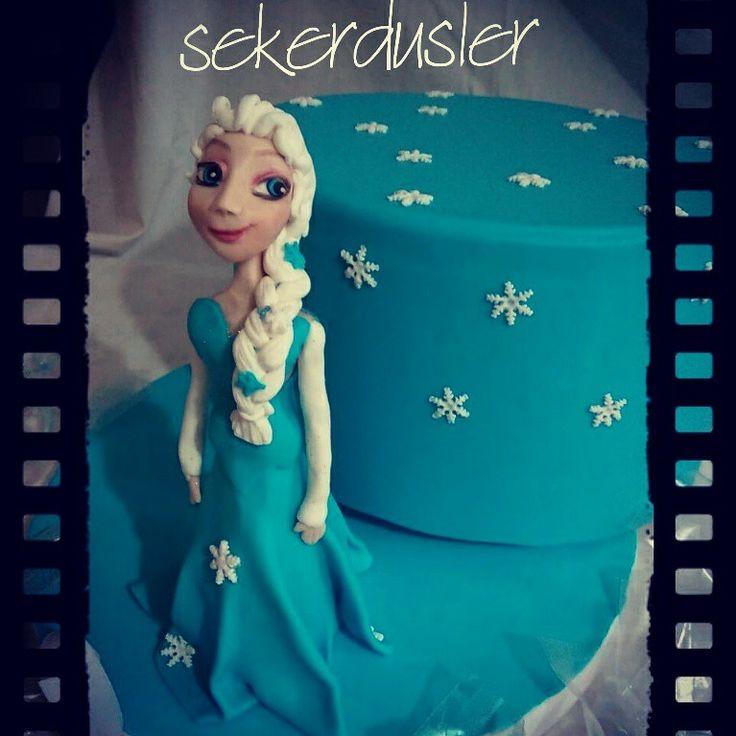Elsa Frozen Cake Figure