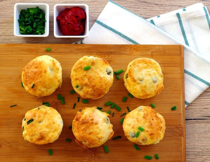 Muffiny z groszkiem i fetą