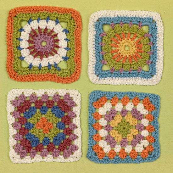Knitting Granny Squares For Beginners : Images about crochet granny square on pinterest