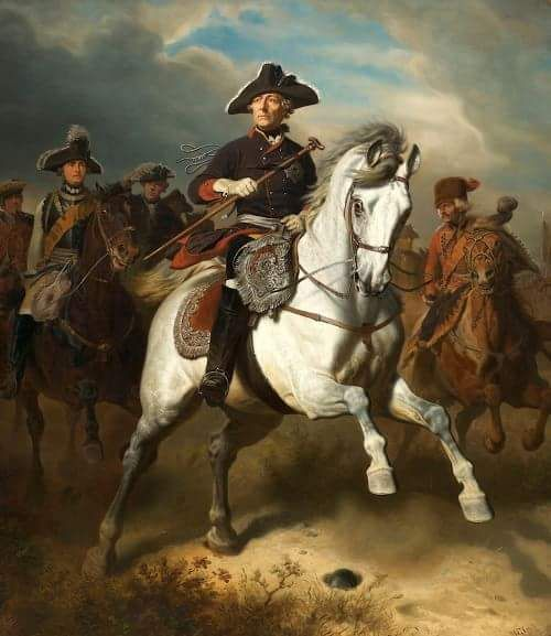 One of the best images of King Frederick II of Prussia