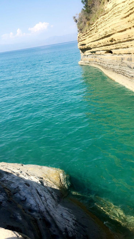 Beautiful clear water in Greece Corfu sidari beach