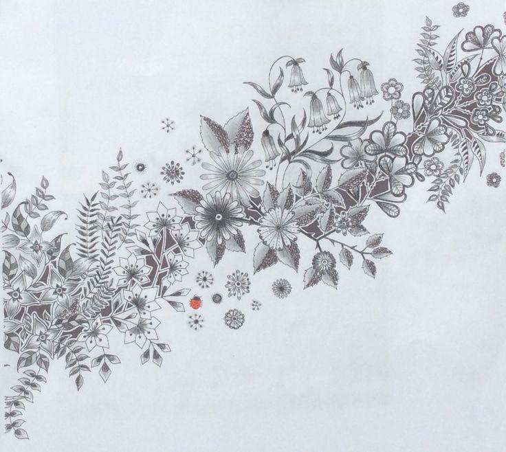Secret Garden by JohannaBasford. Inking and monochrome by Prue