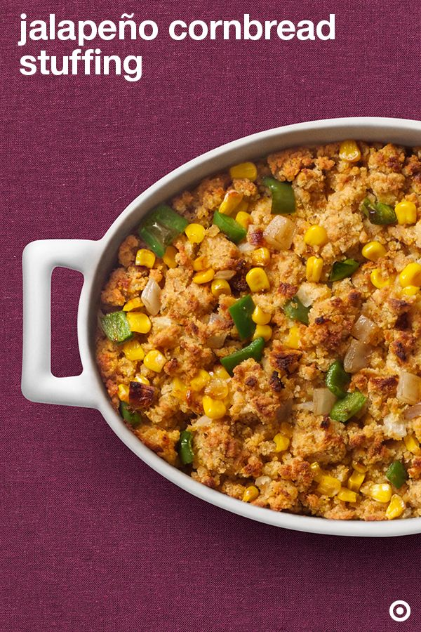 Let me hear you jala! Spice up your Thanksgiving table with this spicy stuffing recipe. Simply mix fresh jalapeños with sweet golden cornbread and you're ready to wow your crowd.