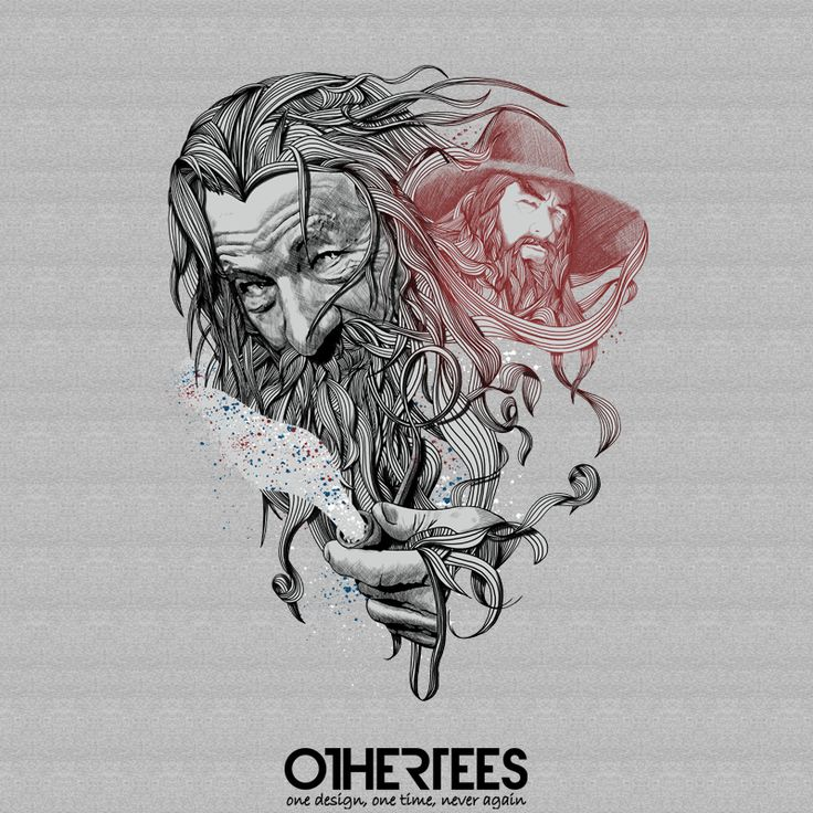 """""""Wizard"""" by 2mz on sale until 10th September at Othertees.com Pin it for a chance at a FREE TEE! #gandalf #lotr #lordoftherings #magic #wizard #othertees #tolkien #jrrtolkien"""