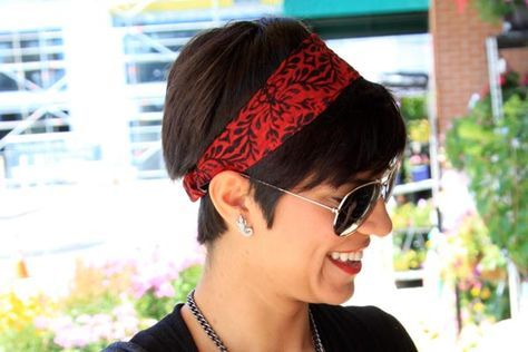 Easy Hairstyles for Short Hair  3 Cute Bandana Hairstyles for Short Hair