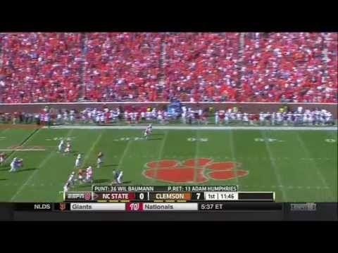 2014 Clemson vs North Carolina State Football Game