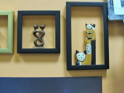 bricolaje Ideas de Decoración de la Pared, estantes de Pared marcos de reciclaje y vitrinas