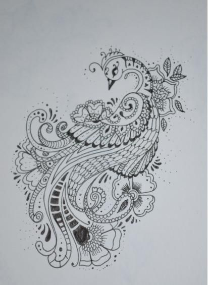Mehndi Stlye Peacock v2 by Laura-Simmons.deviantart.com on @deviantART