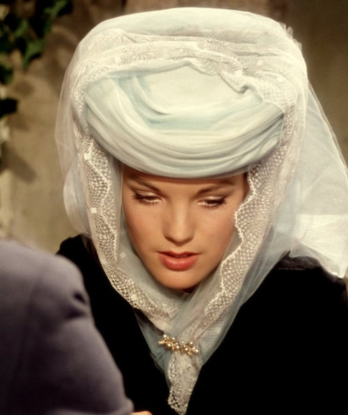 Romy Schneider in Sissi: The Fateful Years of an Empress, 1957, telling that at a restaurant between Vienna and Hungary with Franz Joseph.