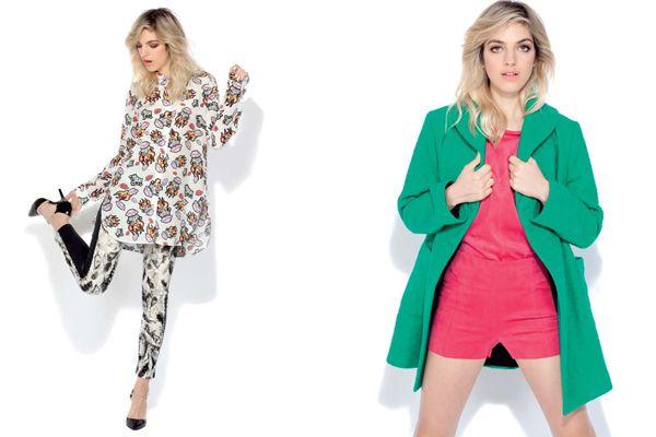 Izq: camisa estampada (Jazmin Chebar, $2350), pantalón de corderoy combinado (Allô Martinez, $1380), zapatos (Prüne, $1290).Der: tapado (Allô Martinez, $4980), top (Las Pepas, $599), shorts de gamuza (Las Pepas, $599). - Revista OHLALÁ!
