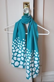 Totally making these with some of my papercut designs! How About Orange: DIY freezer paper stenciled scarf