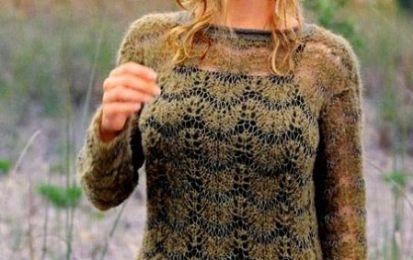 Crea con i lavori a maglia un maglione a maglie allungate - Il lavoro a maglia di oggi prevede la realizzazione di un maglione traforato molto traspirante. Il punto a maglie traforate gli permette infatti di essere un capo tipicamente estivo.