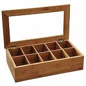 Коробка для чая для хранения чая 36х20х9см натуральный
