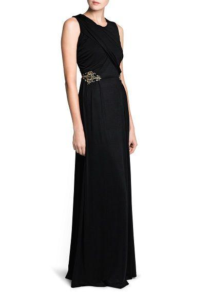 Side appliqués gown