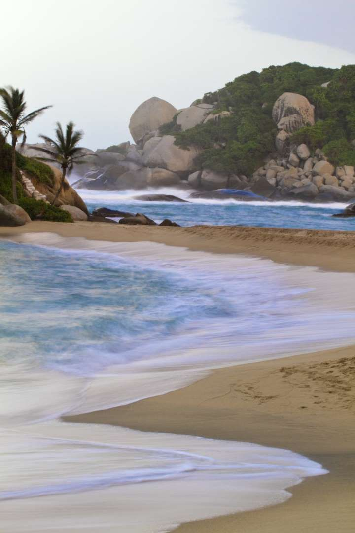 While it isn't the easiest to get to, Cabo San Juan de la Guia Beach in Tayrona National Nature Park... - GettyWhile it isn't the easiest to get to, Cabo San Juan de la Guia Beach in Tayrona National Nature Park is worth the trek through the jungle to get there.