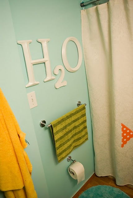 H2O - so cute for a kids' bathroom