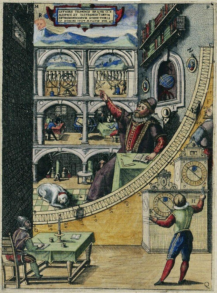 Tycho Brahe's large mural quadrant at Uraniborg