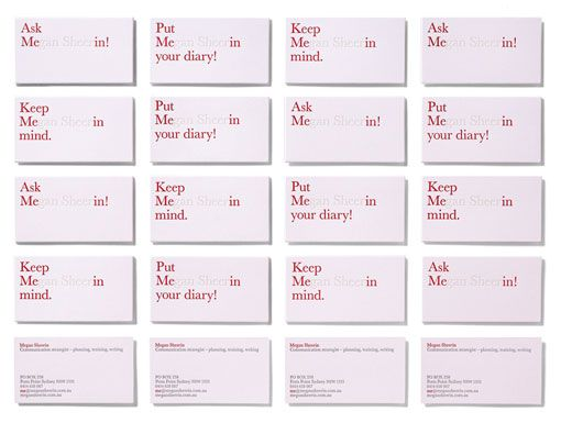 Ascender: Megan Sheerin IdentityIdentity, Creative Business Cards, Clever Brand, Cards Ideas, Clever Idenity T, Catalog Inspiration, Biz Cards, Sheerin Bizcard, Change Messages