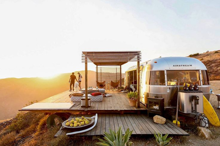 Perched on a cliffside overlooking the Pacific Ocean, the Malibu Dream Airstream isn't your average campsite. Infront sits the California coast, while miles of untouched wilderness surrounds you on all three sides. The Airstream itself has been gutted down to...
