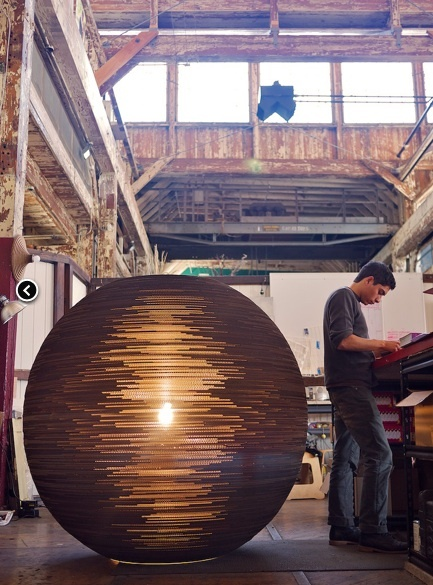 Huge graypants scrap light made from cardboard!