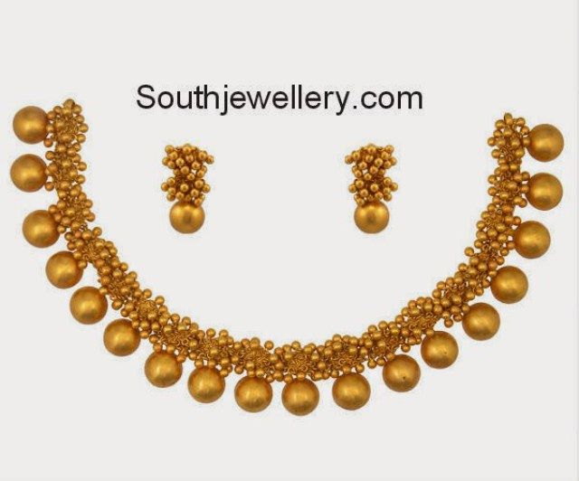 antique gold ghungroo necklace