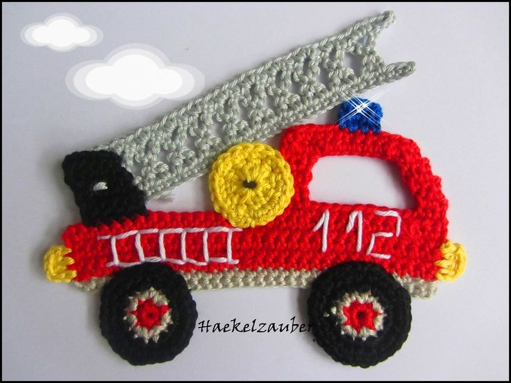 Fire truck appliqué, not free or in English but you could figure it put by looking.